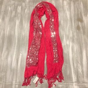 Hot Pink with Sequins Scarf